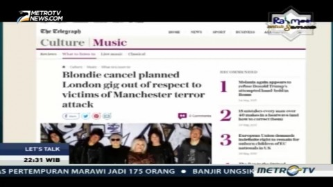 Teror Bom di Konser Ariana Grande Pengaruhi Dunia Musik Internasional