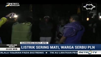 Listrik Sering Mati, Warga Sumbawa Serbu PLN