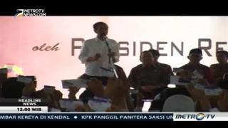 Jokowi Bagikan 3.317 KIP di Purwokerto