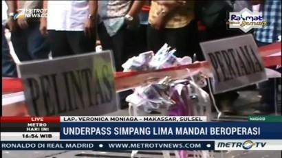 <i> Underpass </i> Simpang Lima Makassar Mulai Beroperasi