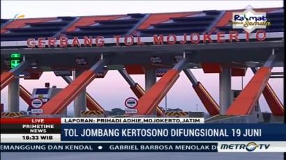 Tol Jombang-Kertosono Mulai Beroperasi Esok Hari