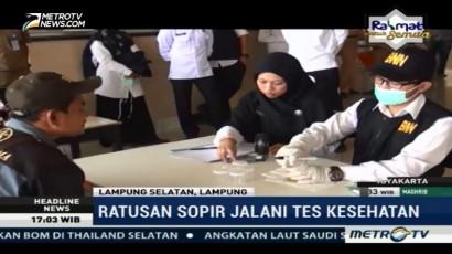 Ratusan Sopir & Kondektur Pelabuhan Bakauheni Jalani Tes Urine