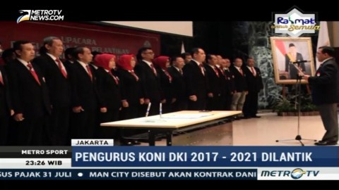 Pengurus KONI DKI Jakarta Periode 2017-2021 Resmi Dilantik
