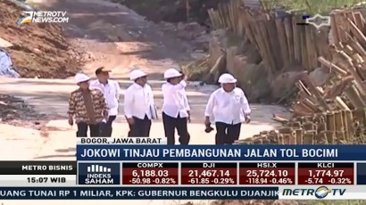 Jokowi Tinjau Proyek Jalan Tol Bogor-Sukabumi