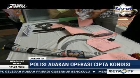Polisi Tahan Ratusan Pelaku Kejahatan dari Operasi Cipta Kondisi