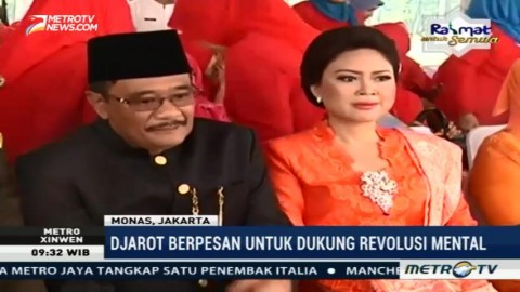 Djarot Pimpin Upacara Peringatan HUT ke-490 DKI Jakarta