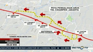 Ini Jalur Alternatif Tujuan Cikampek-Jakarta