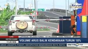 Volume Kendaraan di Tol Pejagan Turun 18%