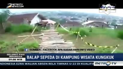 Balap Sepeda di Kampung Wisata Kungkuk