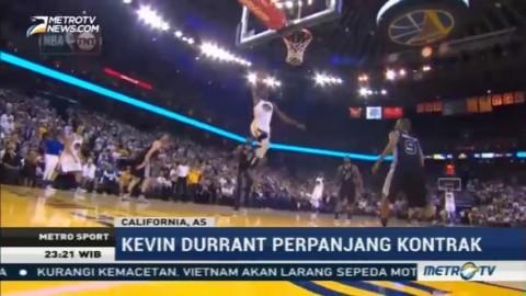 Kevin Durant Perpanjang Kontrak Bersama Warriors