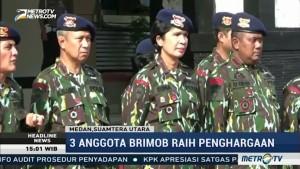 Lumpuhkan Terduga Teroris, Tiga Anggota Brimob Naik Pangkat
