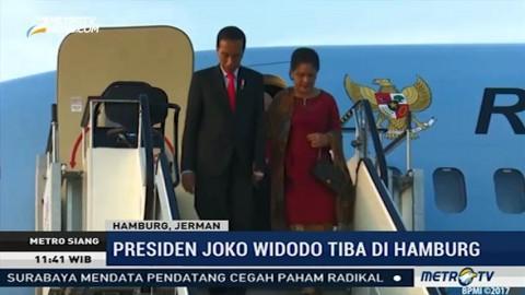 Presiden Jokowi Tiba di Hamburg
