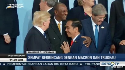 Jokowi Diapit Trump dan Macron di Sesi Foto KTT G20