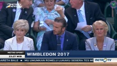David Beckham Saksikan Tenis Wimbledon