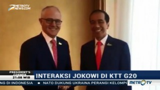 Interaksi Presiden Jokowi di KTT G20