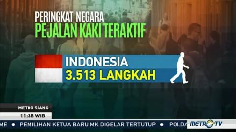 Penduduk Indonesia Paling Malas Jalan Kaki?