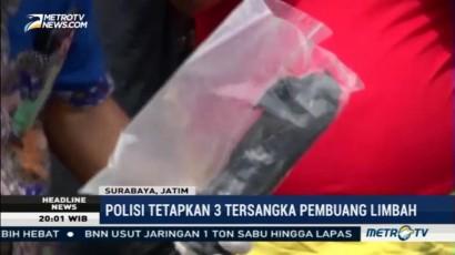 Polrestabes Surabaya Tetapkan 3 Tersangka Pembuangan Limbah B3 Ilegal