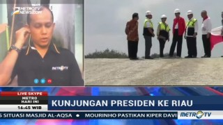 Jokowi Tinjau Proyek Tol Pekanbaru-Dumai