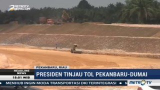 Pembangunan Tol Pekanbaru-Dumai Capai 47%