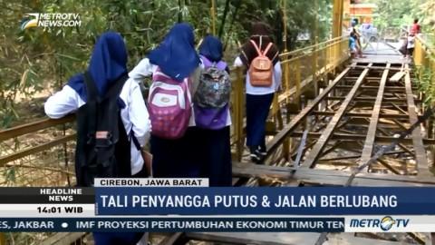 Jembatan Rusak Ancam Keselamatan Warga