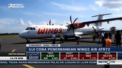 Uji Coba Wings Air Lancar, Bandara Trunojoyo Layak untuk Penerbangan Komersil