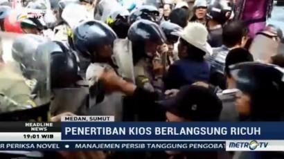 Penertiban Pasar di Medan Berlangsung Ricuh