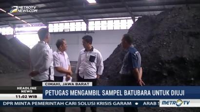 Polisi Sidak Pabrik Batubara di Cimahi