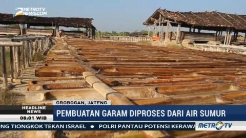 Omzet Petani Garam di Grobogan Naik Tiga Kali Lipat