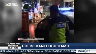 Aksi Polisi Bantu Ibu Hamil Viral di Medsos
