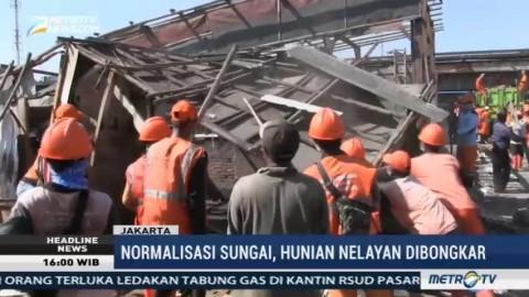 Normalisasi Kali Cakung, Hunian Nelayan di Cilincing Dibongkar