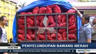 Polres Langkat Sita 3 Ton Bawang Merah Ilegal