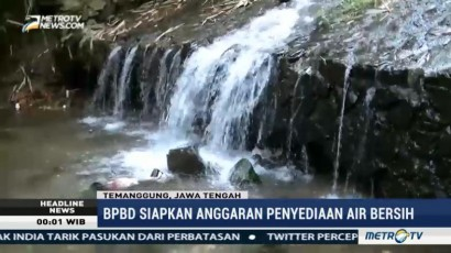 BPBD Temanggung Siapkan Anggaran untuk Penyediaan Air Bersih