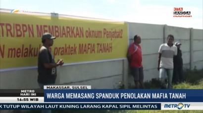 Sengketa Lahan, Warga Pasang Spanduk Penolakan Mafia Tanah