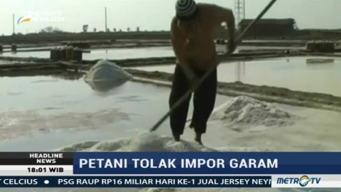 Petani di Pati Tolak Rencana Impor Garam