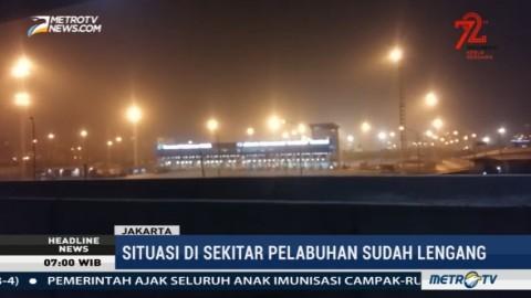Antrean Truk Kontainer di Pelabuhan Tanjung Priok Telah Terurai