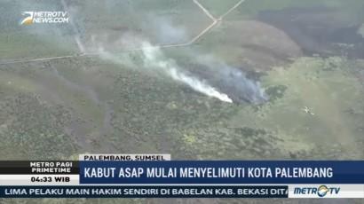 Kabut Asap Mulai Menyelimuti Kota Palembang