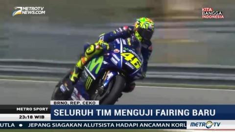 Rossi Jadi yang Tercepat di Tes MotoGP Brno