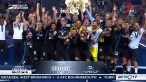 Kesuksesan Real Madrid Pertahankan Gelar Juara Piala Super Eropa