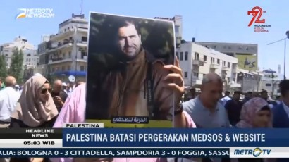 Lima Jurnalis Palestina Ditahan