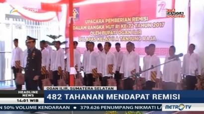 482 Napi Lapas Tanjung Raja Dapat Remisi HUT RI