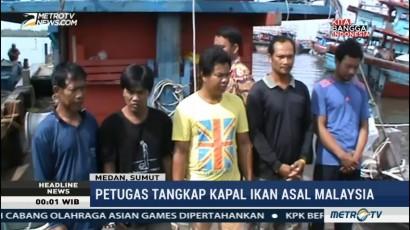 2 Kapal Pencuri Ikan Asal Malaysia Ditangkap di Medan