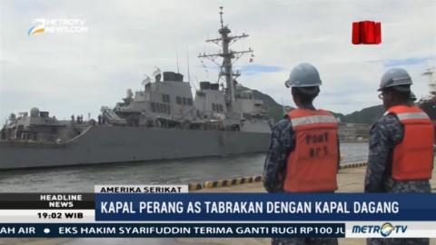 Kapal Perang AS dan Kapal Dagang Tabrakan, Sepuluh Awak Kapal Hilang