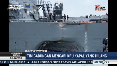 Tim Gabungan Cari Korban Tabrakan Kapal Perang AS