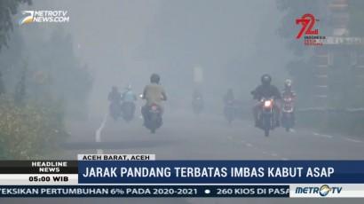Kabut Asap Mulai Menyelimuti Aceh Barat
