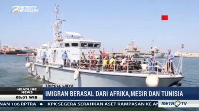 Sekitar 128 Imigran Ilegal Diselamatkan dari Laut Libya