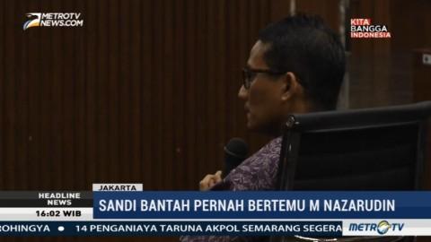 Sandiaga Bantah Bertemu Nazaruddin dan Anas