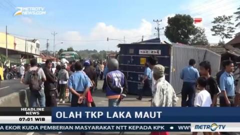 Polres Semarang Olah TKP Kecelakaan Maut di Bawen