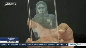 Uniknya Cinderamata Kristal 3D