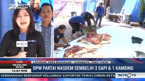 DPW NasDem Jawa Timur Kurban 3 Sapi dan Seekor Kambing