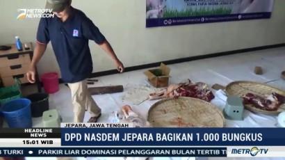 DPD NasDem Jepara Bagikan 1.000 Paket Daging Kurban